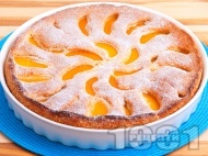 Лесен сладкиш с праскови от компот за десерт